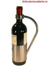 Suport inox pentru o sticla vin