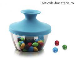 Cutie depozitare bomboane/nuci bleu