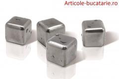 Set 4 cuburi din inox