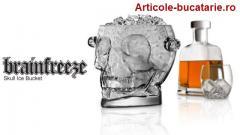 Frapiera din sticla in forma de craniu