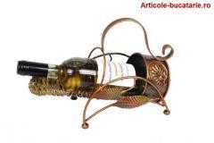 Suport rustic sticla vin