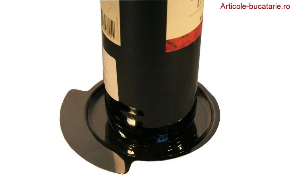 Tavita inox pentru o sticla de vin