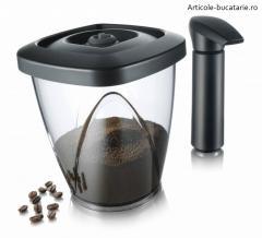 Set cutie cafea si pompa vacuumat