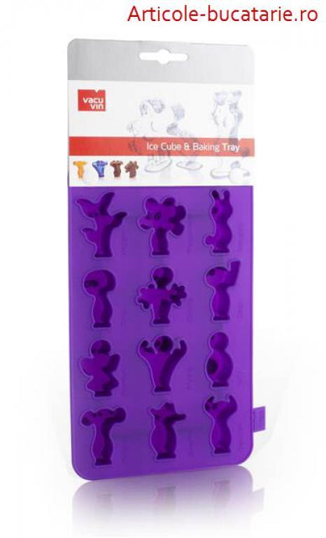 Tava violet figurine gheata